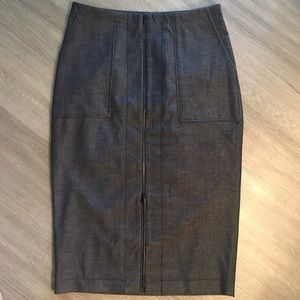 Halogen Black Center Front Zip Pencil Skirt.